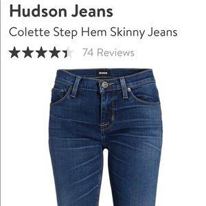 Hudson Jeans Colette Step Hem Skinny Size 30